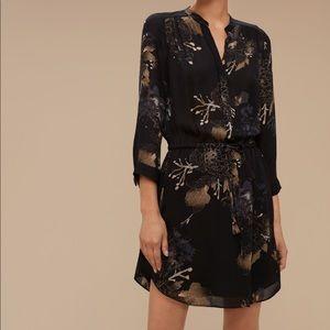 • Babaton • Bennett Floral Silk Mini Dress Black S